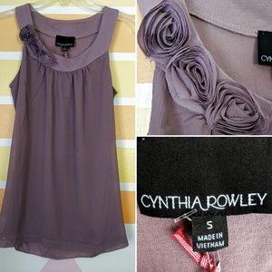 Cynthia Rowley Tops - NWT Cynthia Rowley Top W/Lavender Rosette Neckline